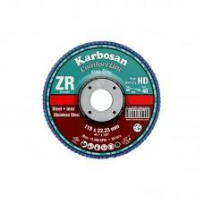Karbosan lamellás INOX tárcsák, 115 mm