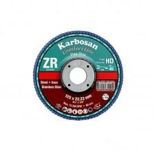 Karbosan lamellás INOX tárcsák, 125 mm