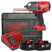"""Milwaukee M18 FMTIWF12-502X  1/2"""" ütvecsavarozó biztosítógyűrűvel"""