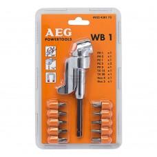 AEG WB1 sarokcsavarozó tartozék - 10 csavarozó bittel